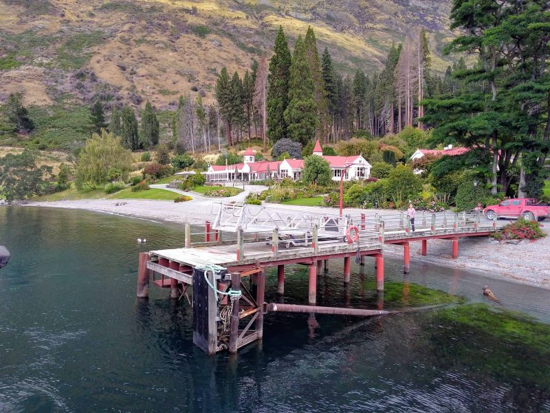 The wharf at Walter Peak Station, a working farm near Queenstown