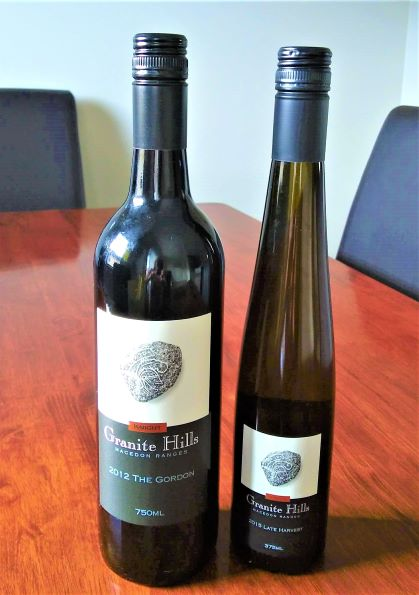 Granite Hills Winery - our two favourite wines from our wine touring in Victoria were from there