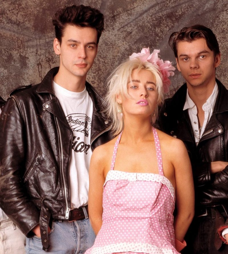 Members of Transvision Vamp with their lead singer Wendy James