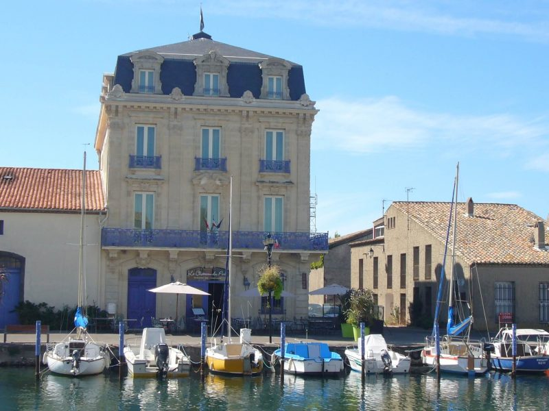 The Maison du Port building in Marseillan, France