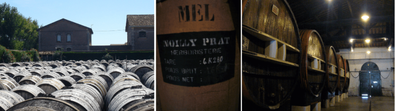 A visit to Noilly Prat showing the barrels in which it is made