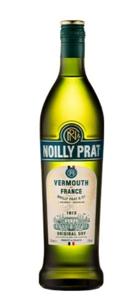 Bottle of Noilly Prat vermouth from Marseillan France