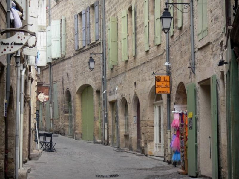 A street in the town of Pezenas, France