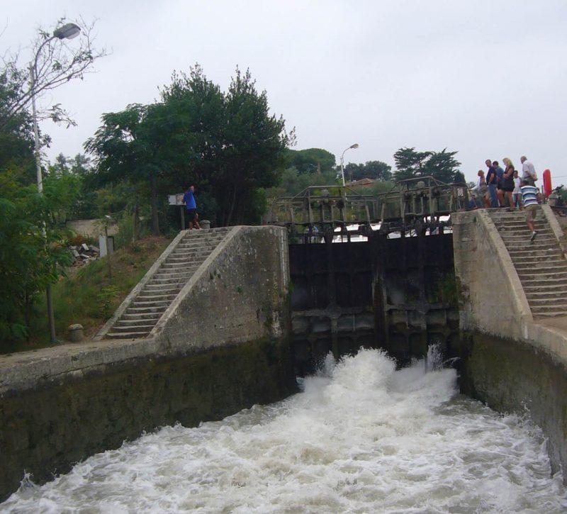 A lock on the Canal du Midi near Beziers