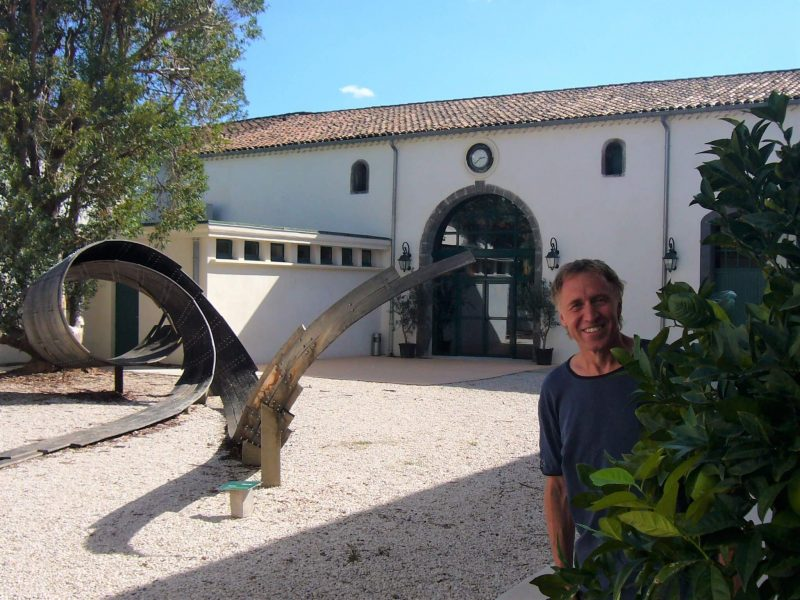 Visiting Noilly Prat headquarters in Marseillan France - view of exterior courtyard