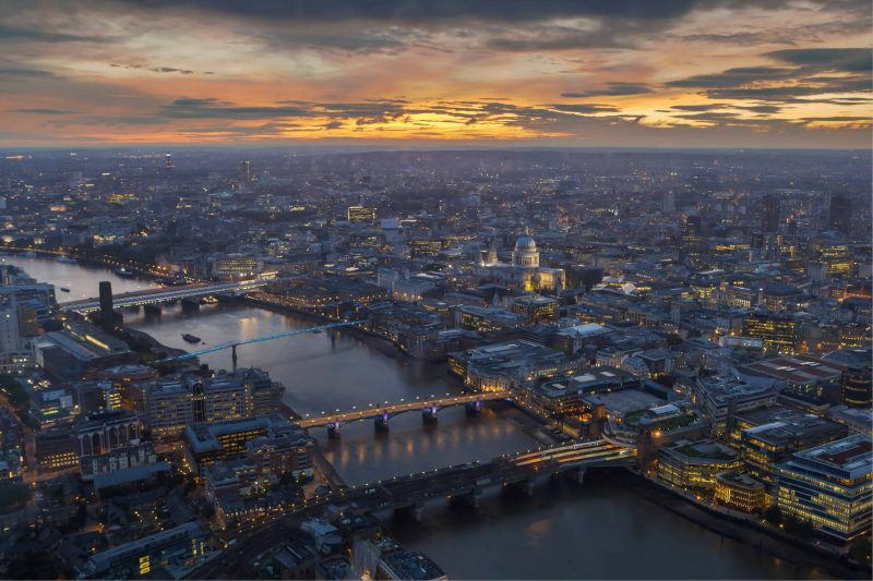 South Thames - London from the top of the Shard