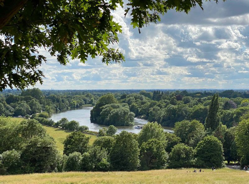 The river Thames running through countryside at Richmond Surrey