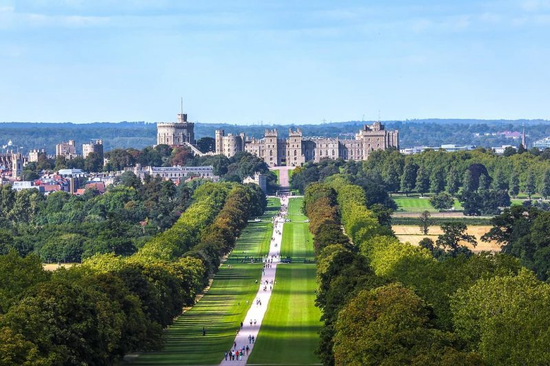 Windsor Great Park with the castle in the background