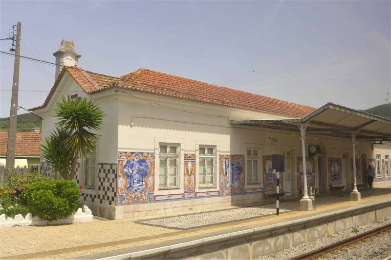 Mafra railway station, Silver Coast, Portugal, with decorative tiling