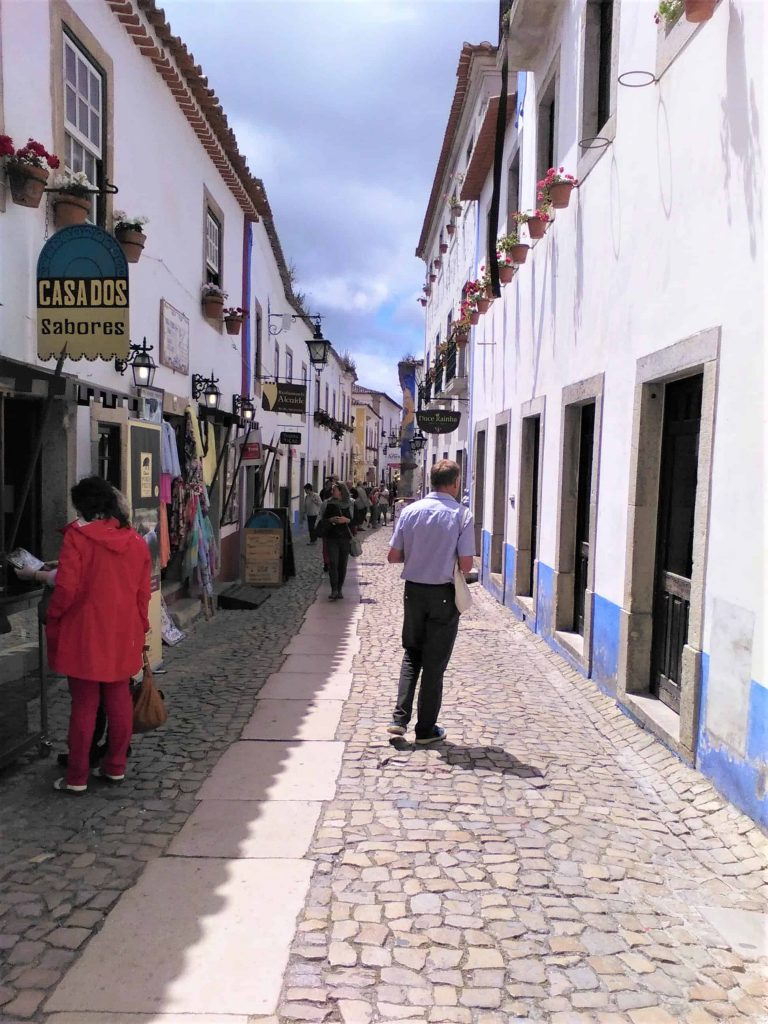 A picturesque street in Obidos, Silver Coast, Portugal