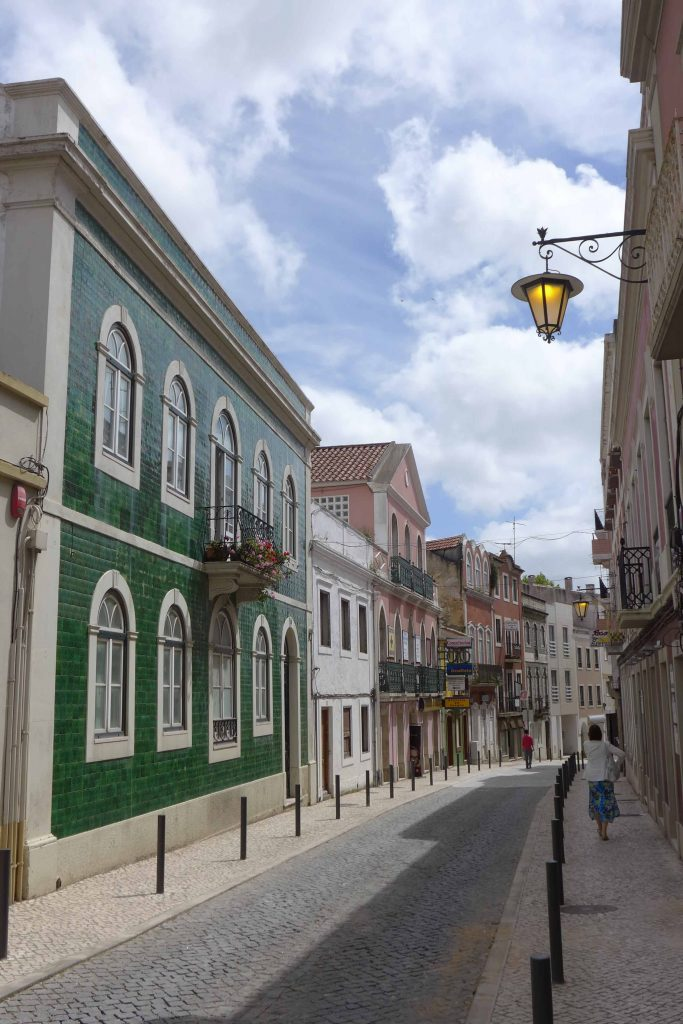 A picturesque street in Caldas da Rainha, Portugal