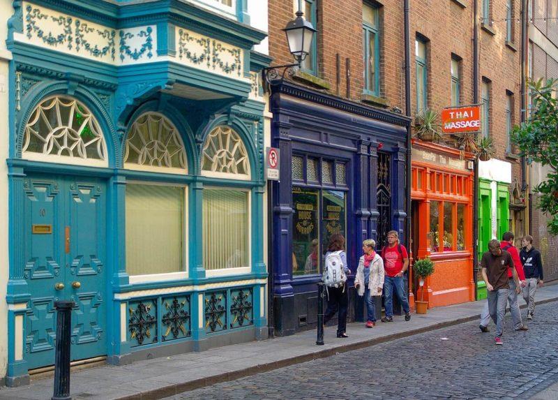 Street scene in Dublin Ireland