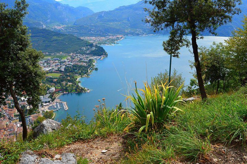 View of Riva del Garda Italy