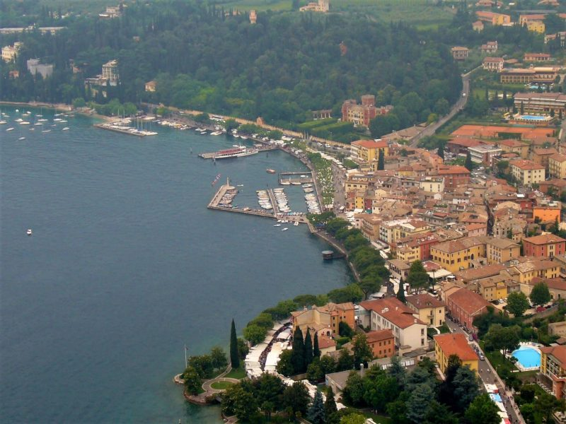 Garda, Italy, seen from La Rocca above the town
