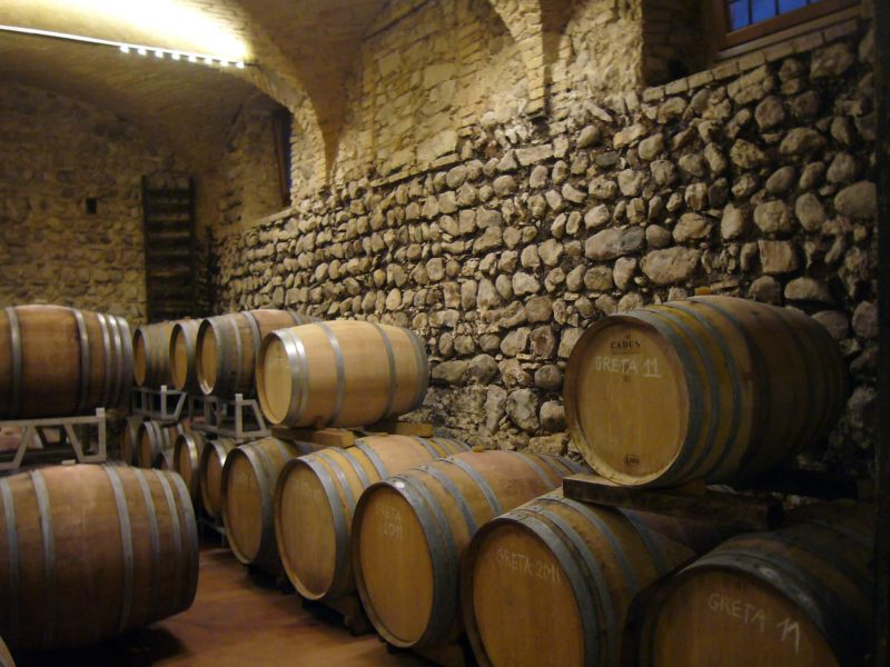 Barrelage at I.G.T. Wines in Lazise, Italy